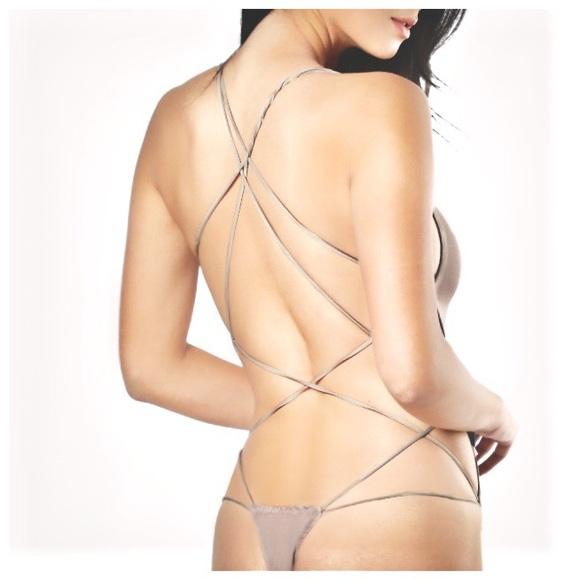 ⭐️thong bodysuit nude strappy bodysuit 🥂✨ 46c255ea5